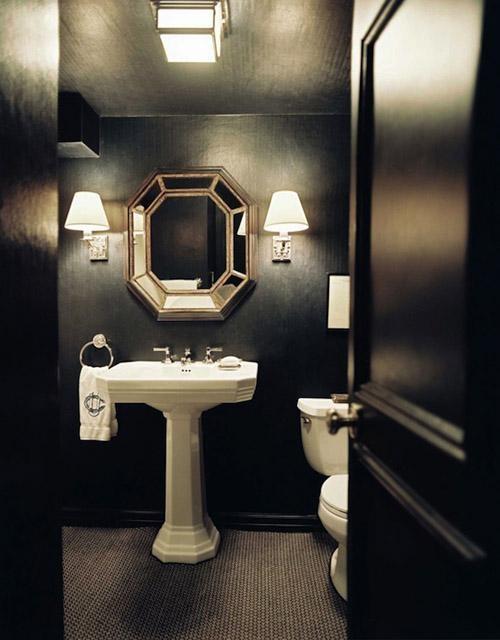 Black Bathroom Enchanting Decorating Design