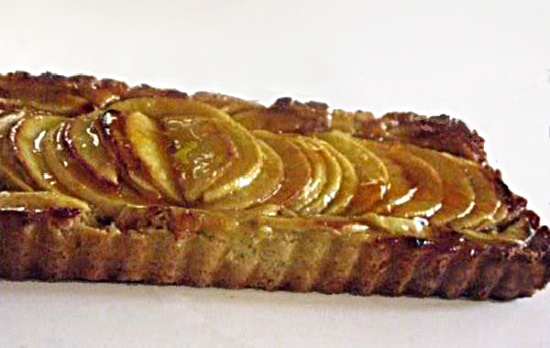 Apple Fig Mascarpone Tart with Honey Apricot Glaze
