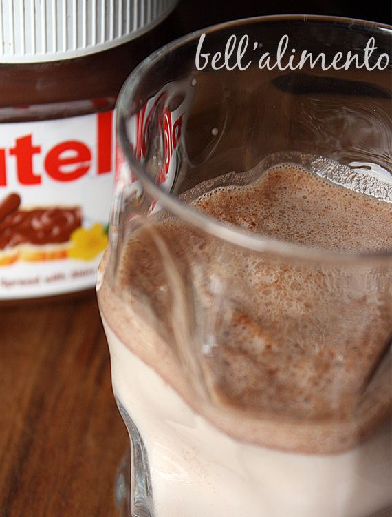 Nutella milk - how to get every last bit out of your Nutella jar!