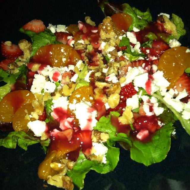 Strawberry Mandarin Salad.... So good !!! The dressing has zero ...