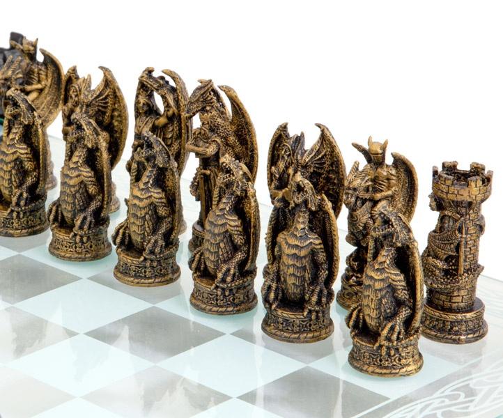 Kingdom Of The Dragon Glass Chess Set My Style Pinterest