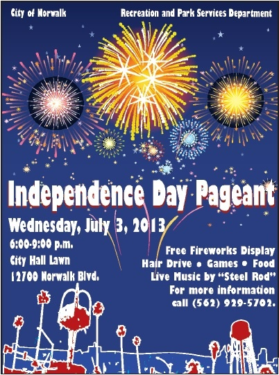 City of norwalk independence day pageant fireworks games food and