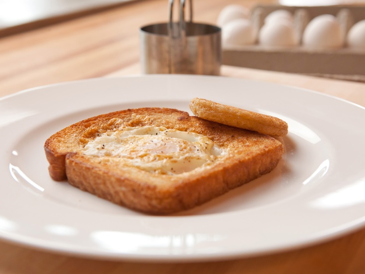 Egg-in-a-Hole from FoodNetwork.com ~ My dad used to make these for us ...