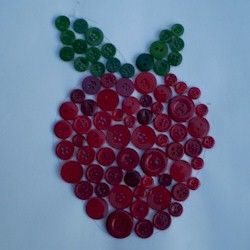 Button Apple:  The preschool children would have fun making an apple with a material like buttons.  This activity would get them thinking creatively about what other materials they could use to make things.  The freedom to make an apple in any shape they choose is very DAP.
