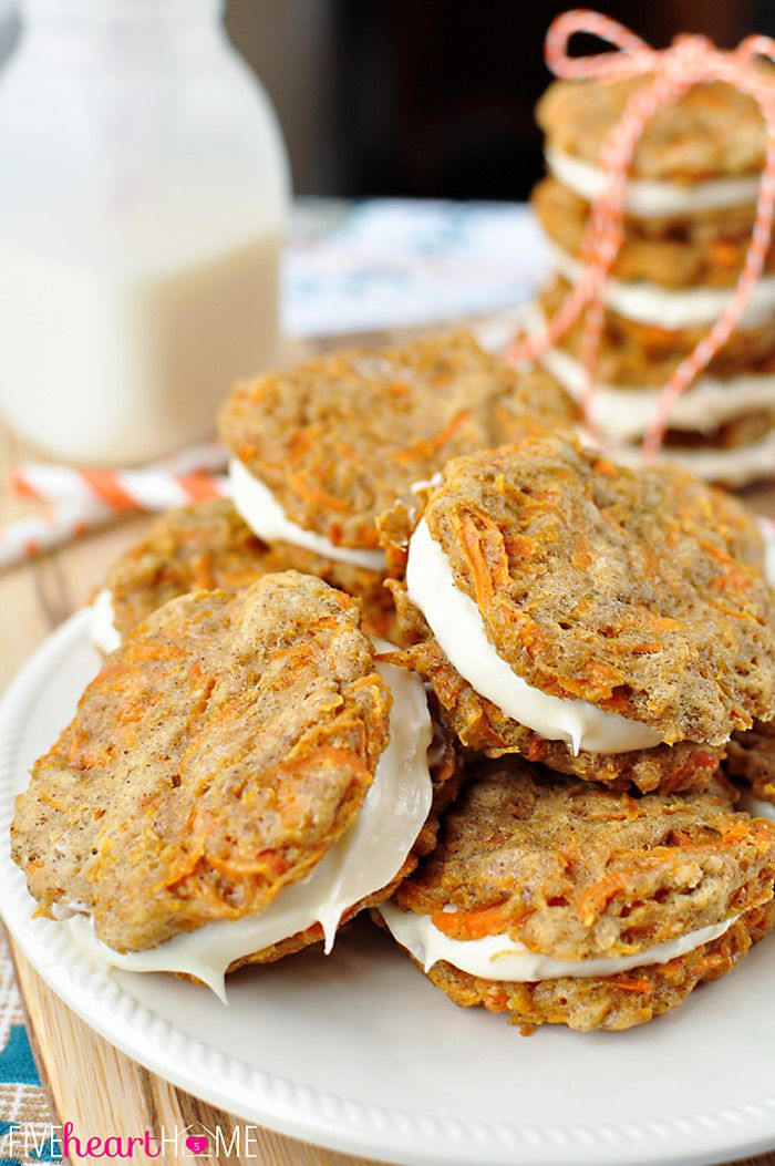 Cookies ~ mini carrot cake whoopie pies filled with cream cheese ...