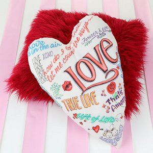 valentine love pillows
