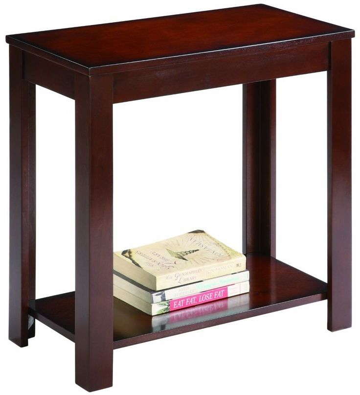Bedroom Side Tables : ... Side End Table Bedroom Night Stand Espresso Book Shelf Accent Small