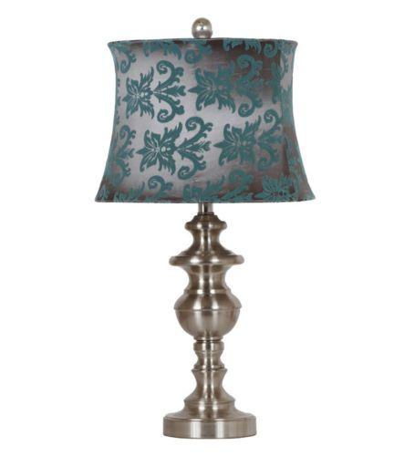 balma table lamp set of two teal grey shade pewter base. Black Bedroom Furniture Sets. Home Design Ideas