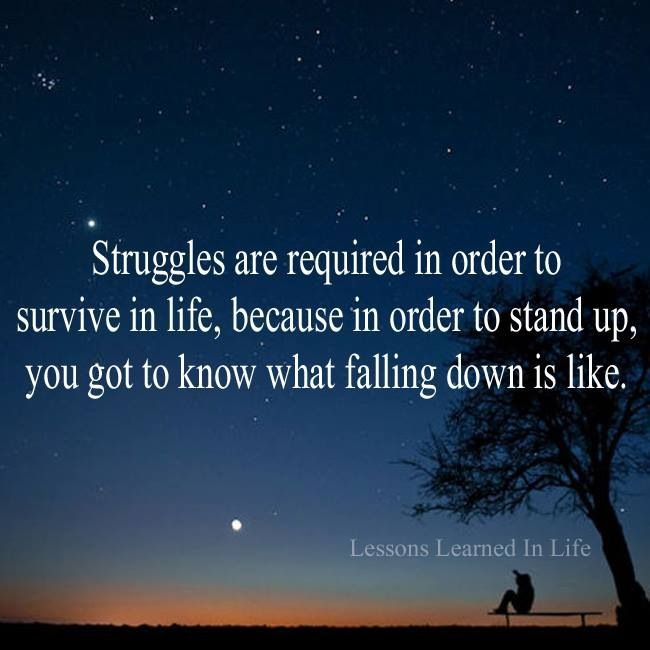 Struggles are required...