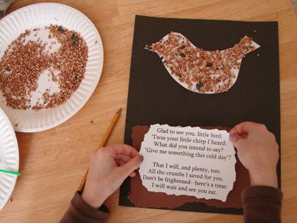 Bird seed poem bird unit study pinterest for Birds project