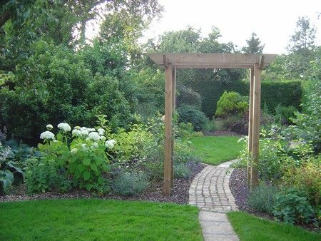 Long narrow garden homes garden ideas pinterest for Garden design ideas long thin