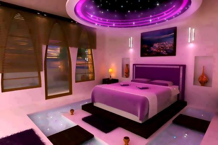 neon purple bedroom design uniqueness pinterest