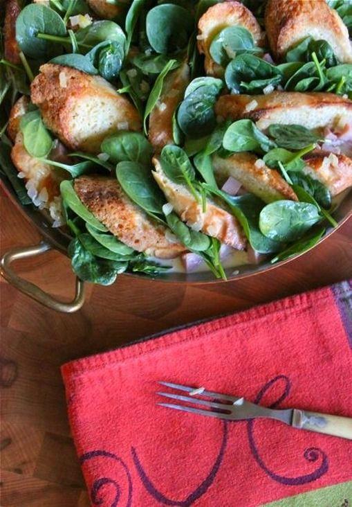 spinach, ham, & fontina strata | Delicious | Pinterest