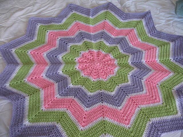 Crochet Pattern For Chevron Baby Afghan : Round Ripple Afghan Crochet Pinterest