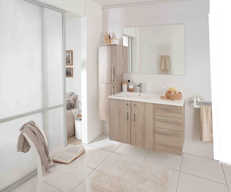 Meuble bois mod le creatis - Meuble de salle de bains lapeyre ...