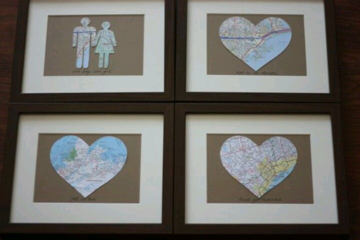 Diy Map Wedding Gift : Anniversary DIY PARTY TIME ANNIVERSARY IDEAS & GIFTS Pinterest