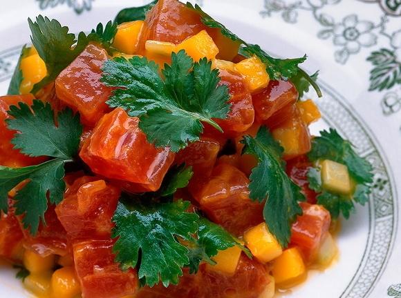 tuna tartare with yuzu amp wasabi