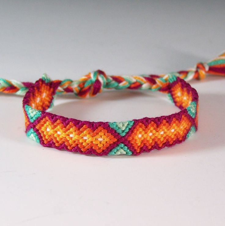 Small Friendship Bracelet  Red Hot Aqua Jewelry