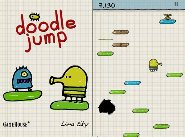 Doodle jump app game amp online game geeky gadget goddess pintere