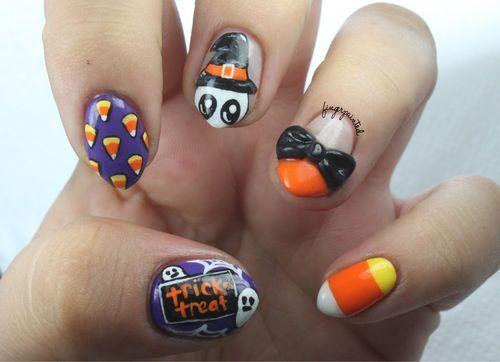 Halloween nail idea | Finger Nail Tips & Ideas | Pinterest