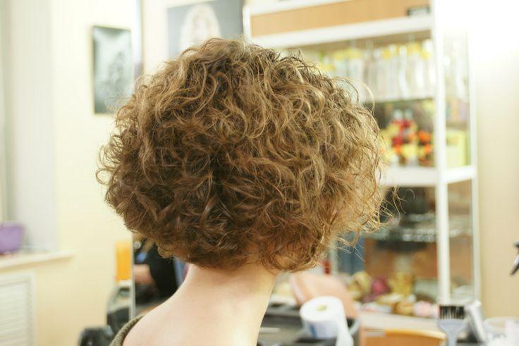 short perm, loose curl