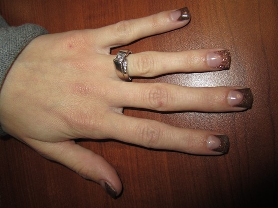 Brown and Gold Nails By Kimee | Acrylic Nails