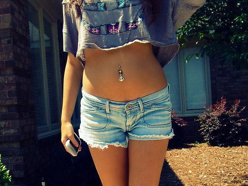 belly button..