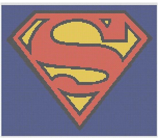 Superman Crochet Pattern Afghan Graph, $5.00.. Pattern now available ...