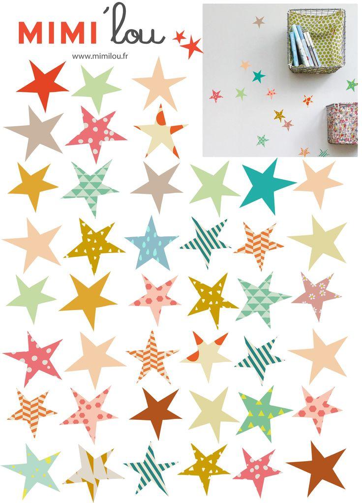 kinderkamer Muurstickers etoiles  wonen en decoratie  Pinterest