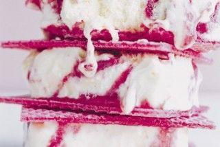 Raspberry Ripple Semifreddo Sliders | Cold desserts | Pinterest