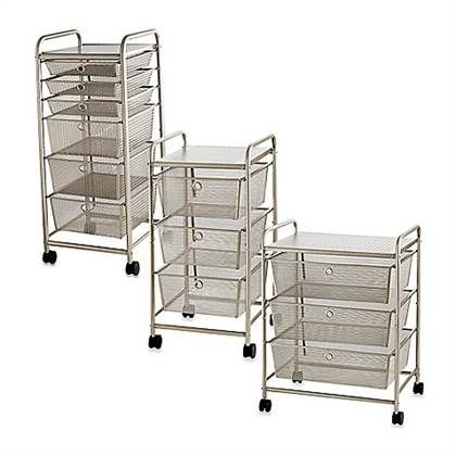 Rolling metal cart with drawers creative craft storage for Ikea metal cart with drawers