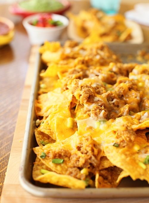 nachos with all the fixings: recipe here | Foods | Pinterest