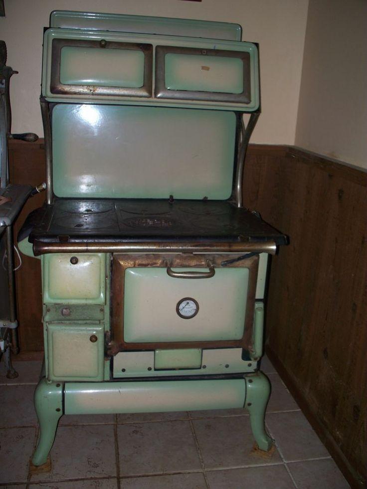 Antique wood kitchen stove new home pinterest