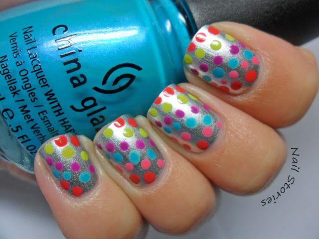 dots over metallic!