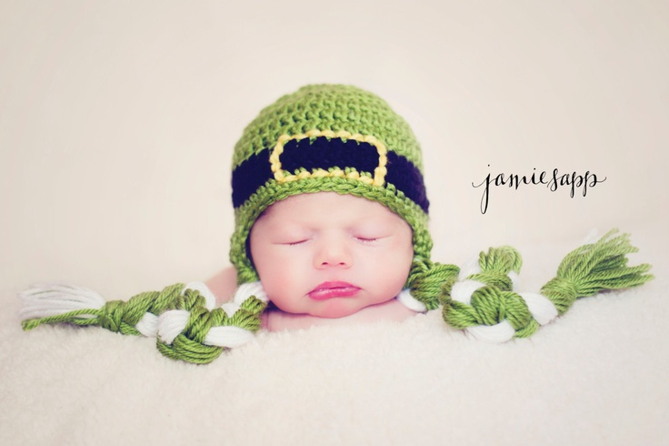 Crochet Baby Leprechaun Hat Pattern : St. Patricks Day Crochet Hat Earflap Beanie - Saint Patty ...