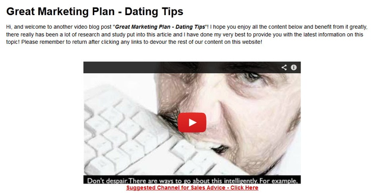 Dating website marketing strategy
