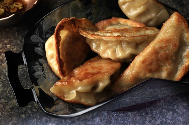 Pork and Shrimp Pot Stickers Cabbage, pork, and shrimp stuffed in a ...