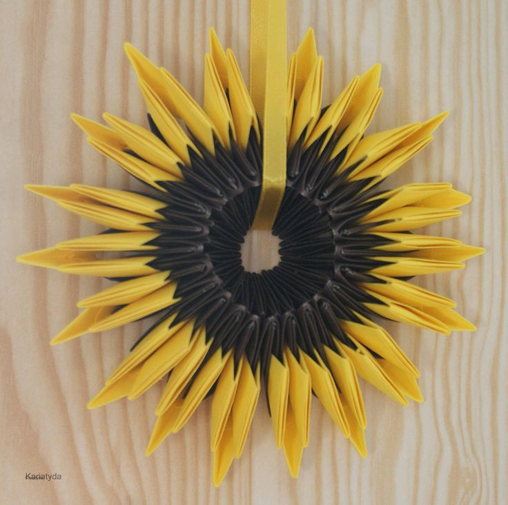 origami sunflower sunflowers pinterest