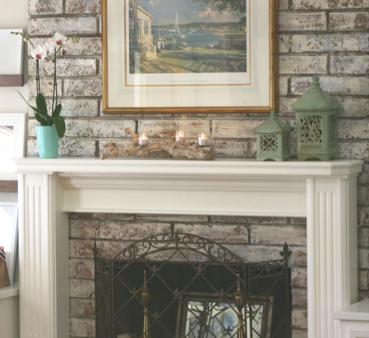 Summer Mantel With Driftwood Candles Fireplaces Pinterest