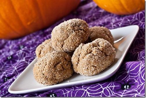 Pumpkin Molasses Cookie Dough Balls
