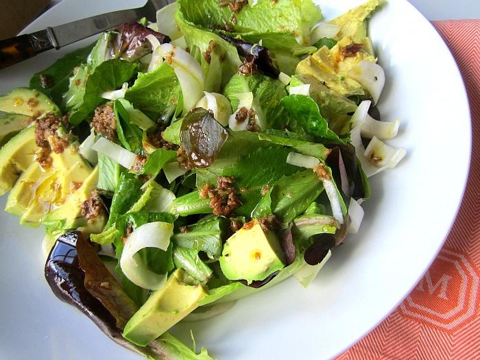 Kale Salad With Bagna Cauda Vinaigrette Recipe — Dishmaps