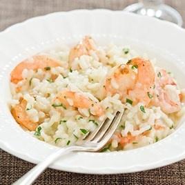 lb XL shrimp, olive oil, garlic cloves, red pepper flakes, Arborio ...