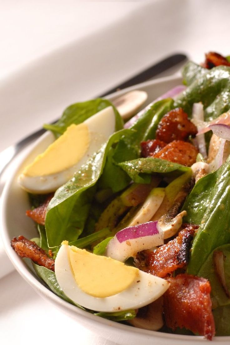 Spinach Salad with Warm Bacon Dressing | Recipe .