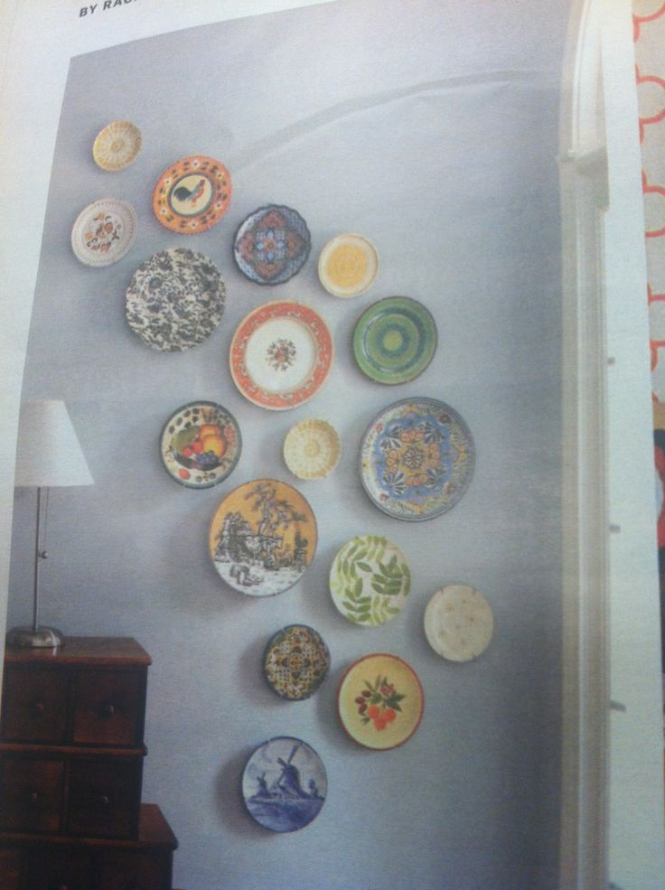 Plate wall arrangement home decor diy pinterest - Picture arrangements on wall ...