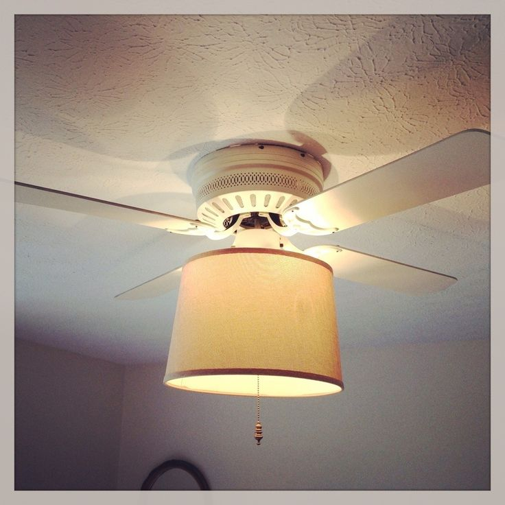 ceiling fan light to lamp shade for the home pinterest. Black Bedroom Furniture Sets. Home Design Ideas