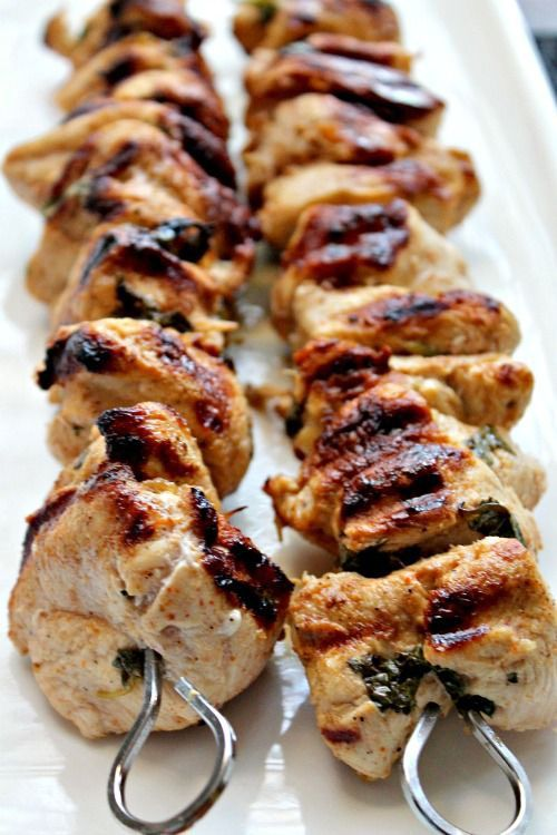 Lemon Chicken Kebabs | Grilled | Pinterest