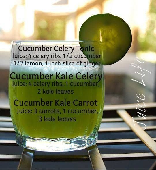 Cucumber Juices  Cucumber is a great addition to juices as it can hydrate and freshen up our body system. Try any of these 3 recipes and share it with your friends and loved ones as well!
