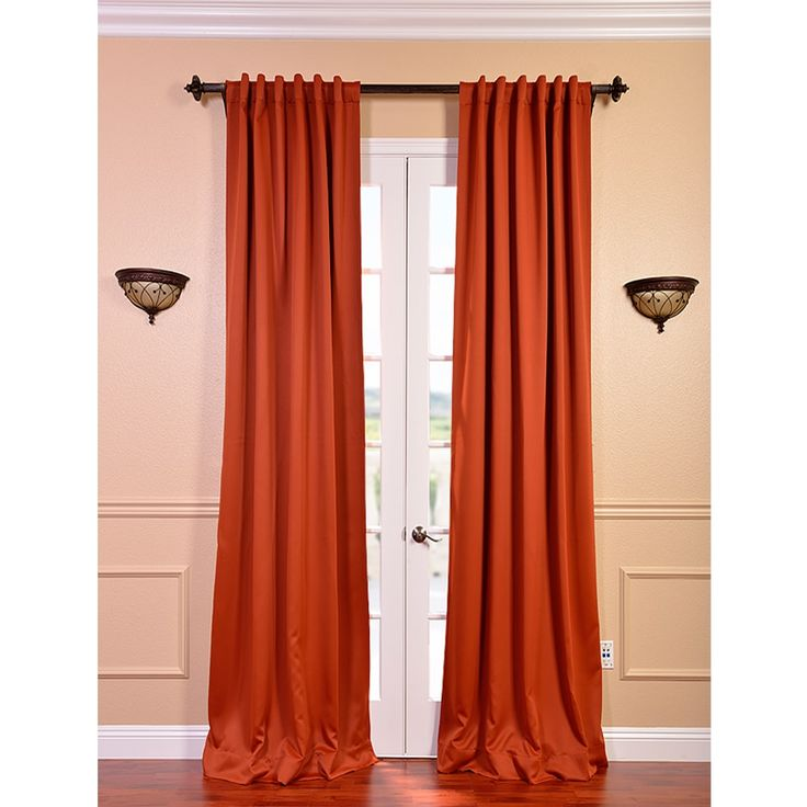 room without making it seem foreboding by using this bright curtain ...