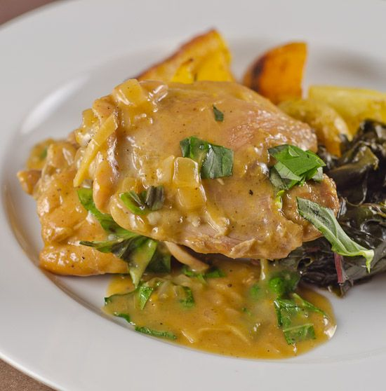Braised Chicken Thighs with Orange, Ginger and Basil | Daily ...