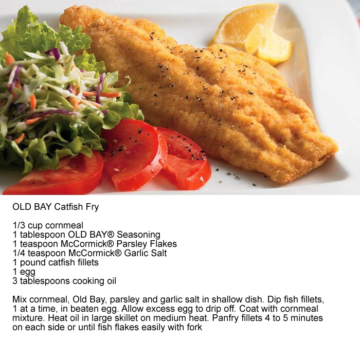 Old Bay Catfish Fry - I used panko for breading. It came out a bit ...